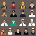 Workers profession people vector icon cartoon vector illustration Stock Photography