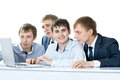 Workgroup interacting Royalty Free Stock Photo