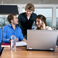 Workgroup students Royalty Free Stock Image