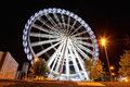 Working big wheel at night in zaragoza spain Stock Photos