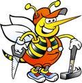 Working Carpenter Bee