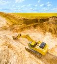 Working excavator. Royalty Free Stock Photo