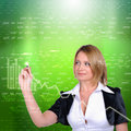 Working Girl drawing color graphics Royalty Free Stock Photo