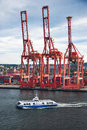 Working inner harbor Royalty Free Stock Photo