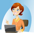 Working lady Royalty Free Stock Photo