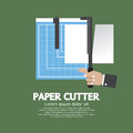 Working With Paper Cutter Paper Cutter. Royalty Free Stock Photo