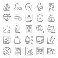 Pack Of Data Doodle Icons Royalty Free Stock Photo