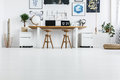 Working space for couple Royalty Free Stock Photo