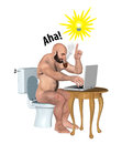 Working In The Toilet Inspired Ideas Illustration Royalty Free Stock Photo
