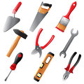 Working tools highly detailed icons Royalty Free Stock Photography