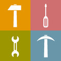 Working tools icons vector clip art Royalty Free Stock Photography