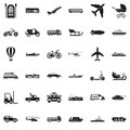Working transport icons set, simple style
