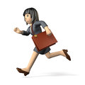 Working women running in active woman wearing a business suit she is toward the left Royalty Free Stock Photos