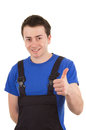 Workman with overalls Royalty Free Stock Photos