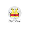 Workman Protection Clothes Building Construction Engineering Icon