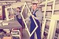Workman showing PVC manufacturing output