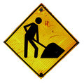 Workman warning sign Royalty Free Stock Images