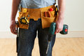 Workman Wearing Toolbelt Royalty Free Stock Photo