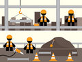Workmen Banners Royalty Free Stock Photo