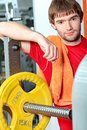 Workout man Stock Image