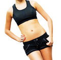 Workout Woman Against White Royalty Free Stock Photo