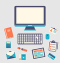 Workplace Icons And Object, Tr...