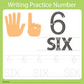 Worksheet Writing practice number six