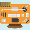 Workstation design element illustration of Royalty Free Stock Photos