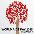 World aids day poster and quotes inspirational message template Royalty Free Stock Photography