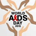 World aids day poster and quotes inspirational message template Stock Photo
