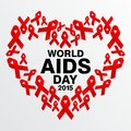 World aids day poster and quotes inspirational message template Stock Image