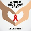 World aids day poster and quotes inspirational message template Stock Photos
