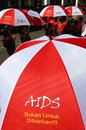 World aids day transgender woman and hiv positive activists participated in an unsanctioned demonstration to mark in solo central Stock Photography
