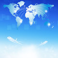 World air travel destinations business illustration of Royalty Free Stock Photo