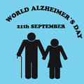 World Alzheimer& x27;s day.Illustration of the Alzheimer& x27;s Disease Royalty Free Stock Photo