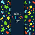World autism pattern poster