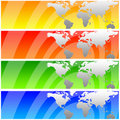 World banners Royalty Free Stock Photo