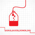World blood donor day creative greeting stock Royalty Free Stock Photography