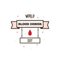 World blood donor day. Vector illustration.