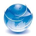 World blue globe