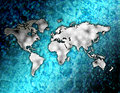 The world in the blue ocean Stock Images