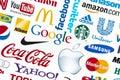 World Brand Logotypes Royalty Free Stock Photo