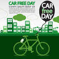 World car free day september nd ecology conceptual vector eps Stock Images