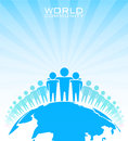 World community business concept vector illustration Stock Photo