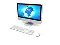 World on computer screen Royalty Free Stock Image