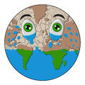 World crying illustration of a forming arid sea Royalty Free Stock Photography