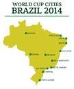 World Cup Cities Brazil 2014