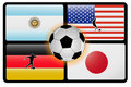 World cup flags Royalty Free Stock Photos