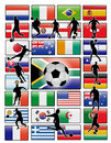 World cup flags vector Royalty Free Stock Image