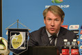 World cup rio de janeiro brazil july alexey sorokin ceo loc during press conference on the final balance of the at maracana Royalty Free Stock Photo
